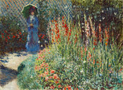 Claude Monet - Rounded Flower Bed (Corbeille de fleurs), 1876