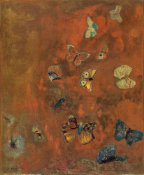 Odilon Redon - Evocation of Butterflies, ca. between 1910 and 1912