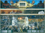 Diego Rivera - Detroit Industry, North Wall Center Panels, 1932-1933
