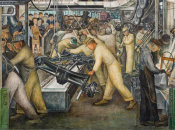 Diego Rivera - Detroit Industry, South Wall Detail, Undercarriage, 1932-1933