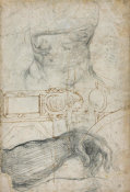 Michelangelo - Scheme for the Decoration of the Ceiling of the Sistine Chapel, ca. 1508