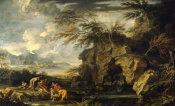 Salvator Rosa - The Finding of Moses, ca. between 1660 and 1665