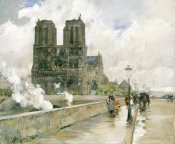 Childe Hassam - Notre Dame Cathedral, Paris, 1888, 1888