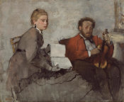 Edgar Degas - Violinist and Young Woman, ca. 1871