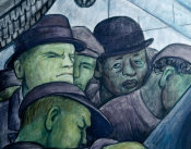 Diego Rivera - Detroit Industry, Rivera Self Portrait (North Wall Mural Detail), 1932-1933