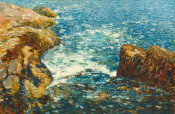 Childe Hassam - Surf and Rocks, 1906