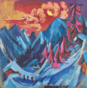 Ernst Ludwig Kirchner - Winter Landscape in Moonlight, 1919