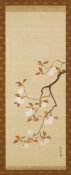 Sakai Hoitsu - Triptych of the Seasons: Cherry Blossoms, early 19th century