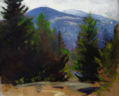 Abbott Handerson Thayer - Sketch of Monadnock Mountain, 1897