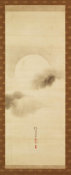 Sakai Hoitsu - Triptych of the Seasons: Moon Among Clouds, early 19th century