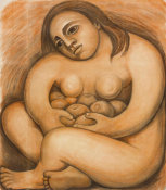 Diego Rivera - Woman Holding Fruit, 1932