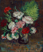 Vincent van Gogh - Vase with Carnations, 1886