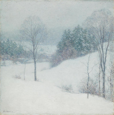 Willard Metcalf - The White Veil, 1909