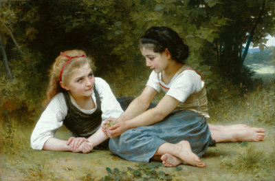 William Adolphe Bouguereau - The Nut Gatherers, 1882