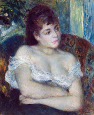 Pierre-Auguste Renoir - Woman in an Armchair, 1874