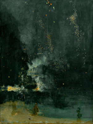 James Abbott McNeill Whistler - Nocturne in Black and Gold, the Falling Rocket, 1875