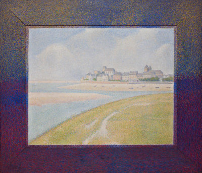 Georges Seurat - View of Le Crotoy from Upstream, 1889