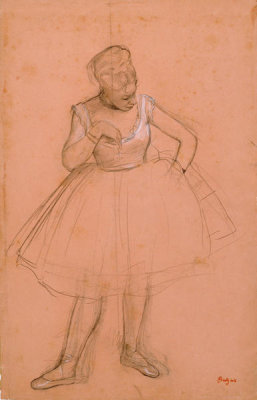 Edgar Degas - Ballet Dancer Adjusting her Costume, 1872 or 1873
