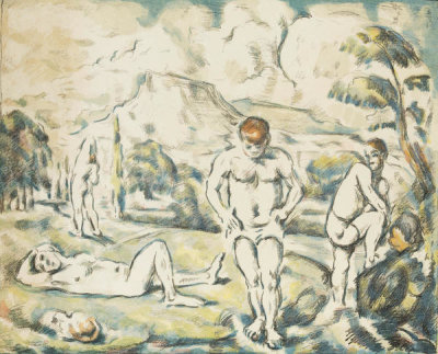 Paul Cézanne - The Bathers, between 1896 and 1897