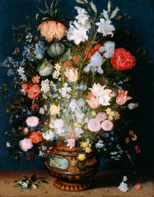 Jan Brueghel the Younger - Bouquet of Flowers in a Ceramic Vase, ca. 1610