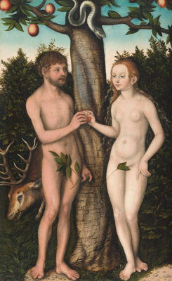 Lucas Cranach the Elder - Adam and Eve, 1528