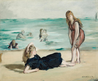 Edouard Manet - On the Beach, ca. 1868