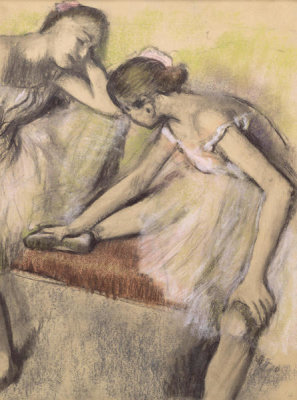 Edgar Degas - Dancers in Repose, ca. 1898