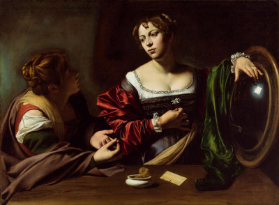 Michelangelo Merisi da Caravaggio - Martha and Mary Magdalene, ca. 1598