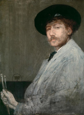 James Abbott McNeill Whistler - Arrangement in Gray: Portrait of the Painter, ca. 1872