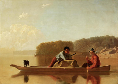 George Caleb Bingham - The Trappers' Return, 1851