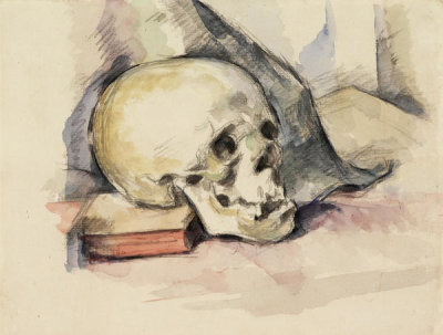 Paul Cézanne - Skull and Book, ca. 1885