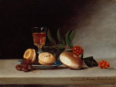 Raphaelle Peale - Still Life with Wine Glass, 1818