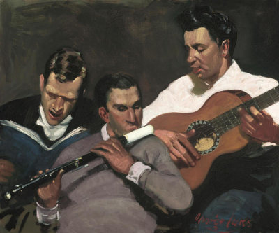 George Benjamin Luks - Three Top Sergeants, 1925