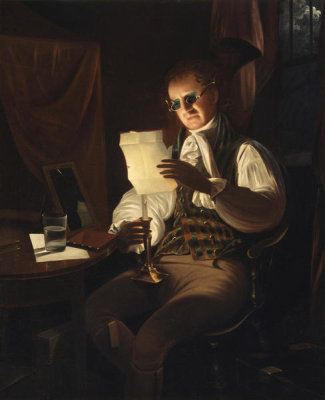 Rembrandt Peale - Man Reading by Candlelight, between 1805 and 1808