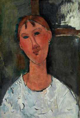 Amedeo Modigliani - Girl in a White Blouse, ca. 1915