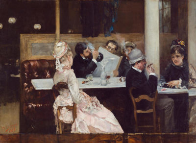 Henri Gervex - Café Scene in Paris, 1877