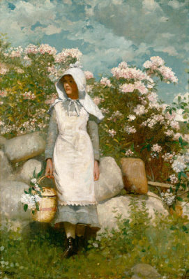Winslow Homer - Girl and Laurel, 1879
