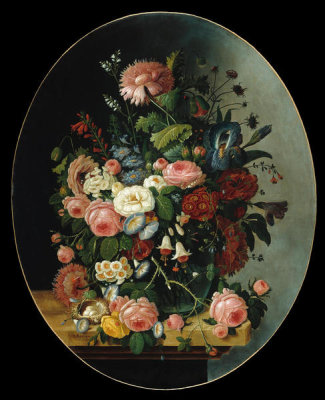 Severin Roesen - Flowers, ca. 1865