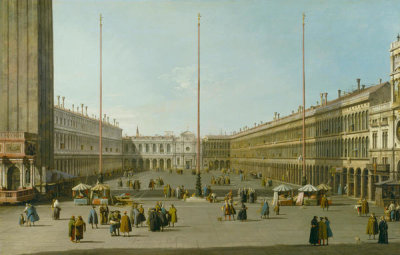 Canaletto - The Piazza San Marco, ca. 1739