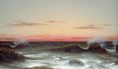Martin Johnson Heade - Seascape: Sunset, 1861