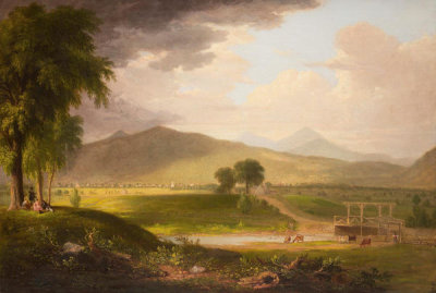 Asher Brown Durand - View of Rutland, Vermont, 1840