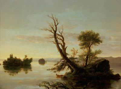 Thomas Cole - American Lake Scene, 1844