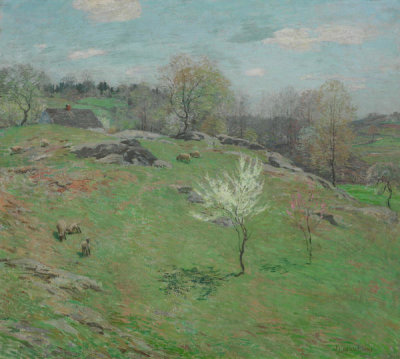 Willard Metcalf - Unfolding Buds, 1909