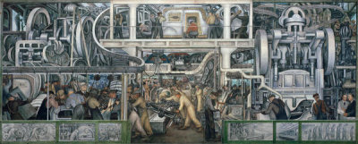 Diego Rivera - Automobile Exterior and Final Assembly (South Wall Mural Detail), 1932–1933