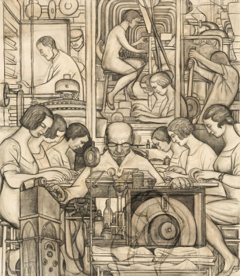 Diego Rivera - Pharmaceutics, 1932