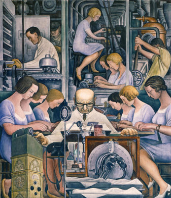 Diego Rivera - Detroit Industry, South Wall, Pharmaceutics, 1932-1933