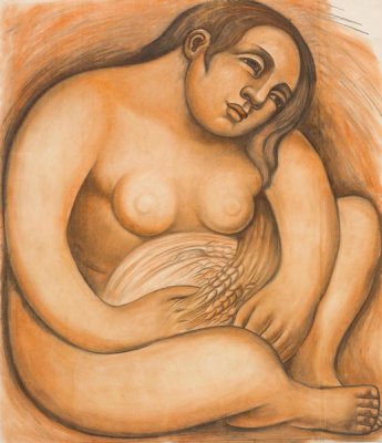 Diego Rivera - Woman Holding Grain, 1932