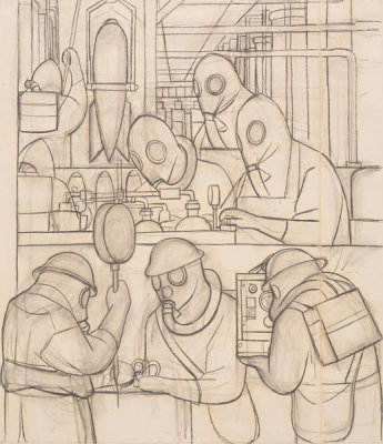 Diego Rivera - Manufacture of Poisonous Gas Bombs, 1932