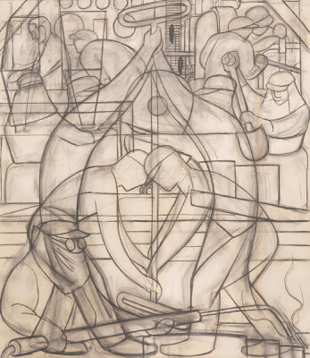Diego Rivera - Commercial Chemical Operations, 1932
