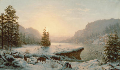 Mortimer L. Smith - Winter Landscape, 1878